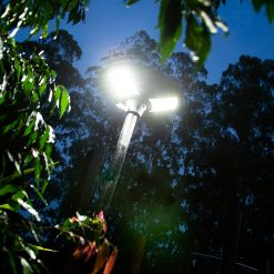 outdoor light with 360 degree lighting for back garden