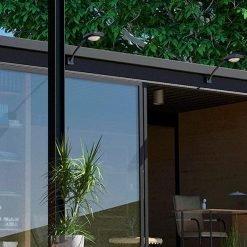 black wall mounted outdoor solar lights Brisbane