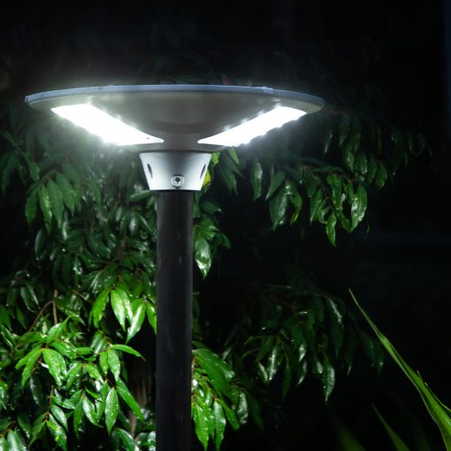 large, tall, weather proof solar garden light with long battery life