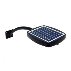 hail proof solar panel on top of black outdoor solar wall light