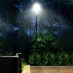 weather-proof outdoor garden light on pole