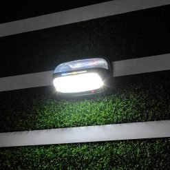 Star 8 rain proof solar garden light shining at night using motion detecting technology