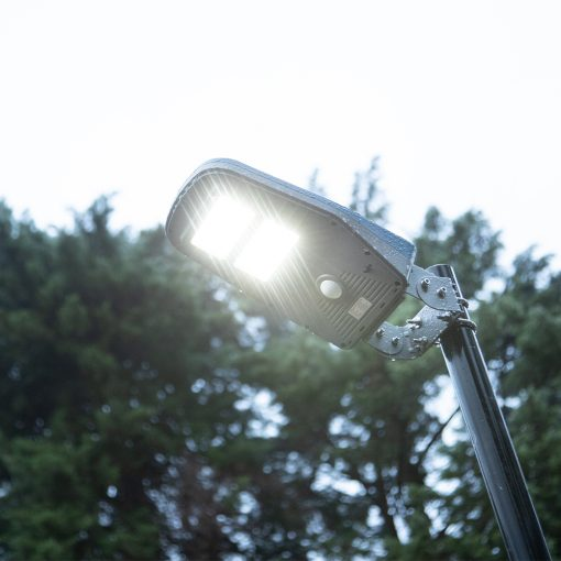 rain-proof solar powered garden lights in Brisbane back garden
