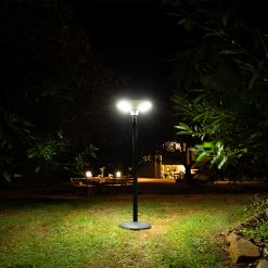 remote controlled solar garden light with 360 degree lighting