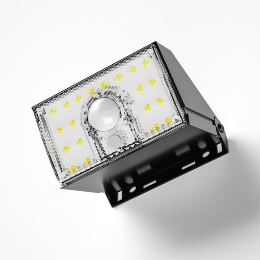 small, wall mounted security light with strong shining beam