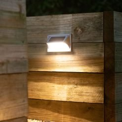 outdoor step light shining on staircase in Brisbane