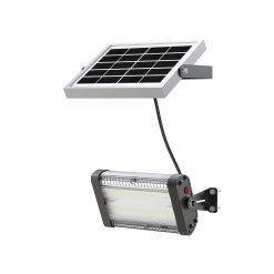 solar security light with independent solar panel and wall mounting bracket