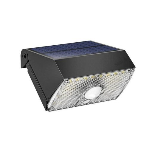 solar power security wall light with motion detecting technology illuminating dark space at night