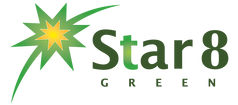 star 8 australia solar lighting logo on transparent background