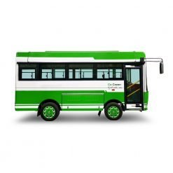 side profile of economical solar powered bus by Star 8 Australia