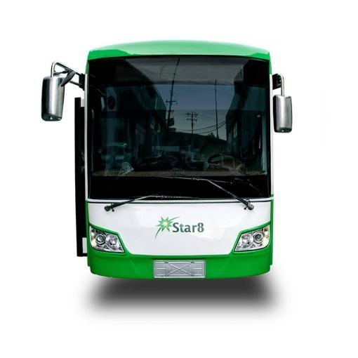 front view of Cityline solar powered bus