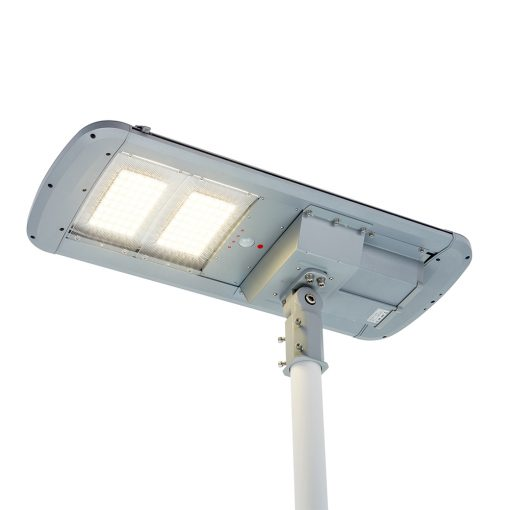 self cleaning solar light wiping dirt off solar panel