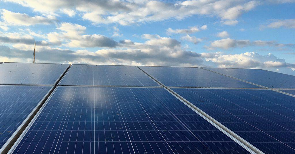 solar light panels installed on roof of Brisbane home