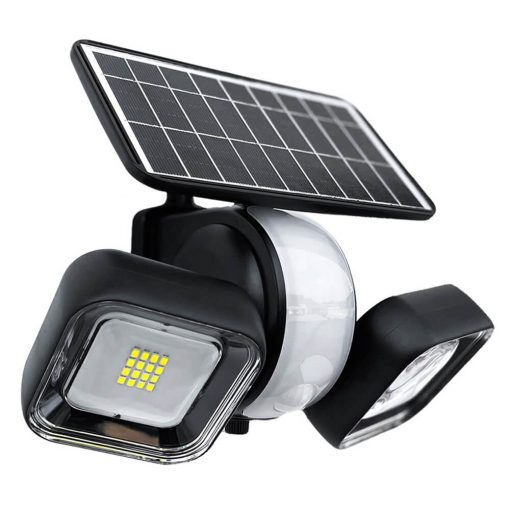 solar security light with 360 degree swivel function to protect your entire garden