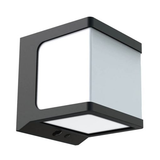 wall mounted cube solar wall light