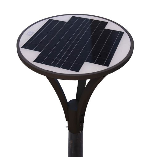 top solar panel of landscape light with long-life battery