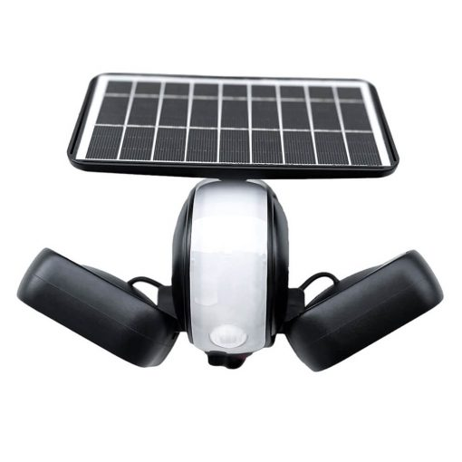 motion sensing solar security wall light front view