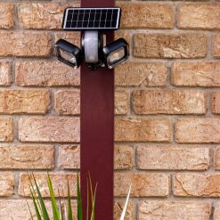 powerful solar security wall light turned off