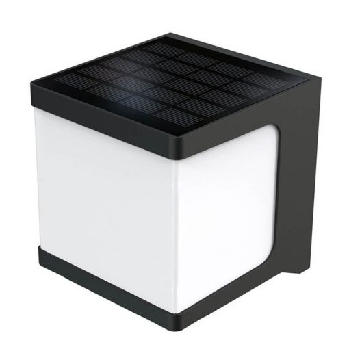 stylish square solar security light mounted on wall