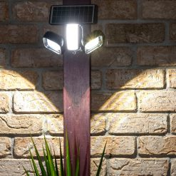 solar security light with swivel function set to dimmable setting
